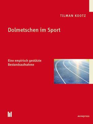 cover image of Dolmetschen im Sport
