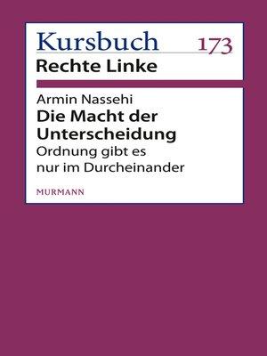 cover image of Die Macht der Unterscheidung