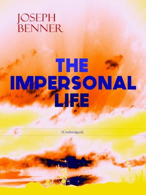 cover image of The Impersonal Life