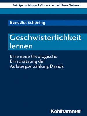 cover image of Geschwisterlichkeit lernen