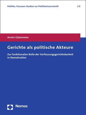 cover image of Gerichte als politische Akteure