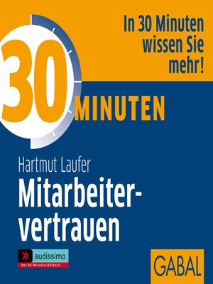 cover image of 30 Minuten Mitarbeitervertrauen