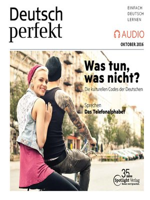 cover image of Deutsch lernen Audio--was tun, was nicht?