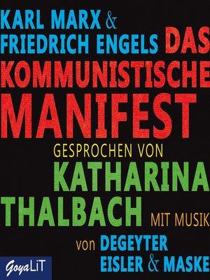 cover image of Das kommunistische Manifest
