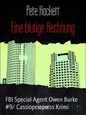 cover image of Eine blutige Rechnung