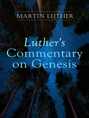 cover image of Luther's Commentary on Genesis
