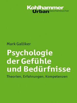 cover image of Psychologie der Gefühle und Bedürfnisse