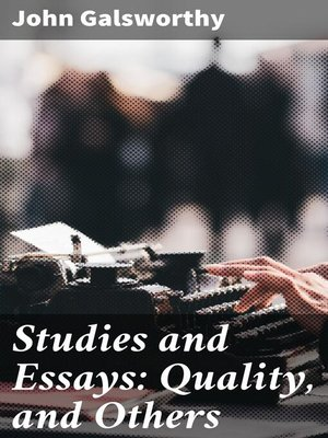 cover image of Studies and Essays