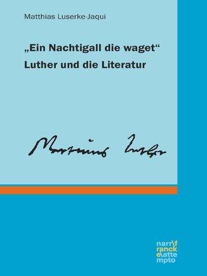 "cover image of ""Ein Nachtigall die waget"""