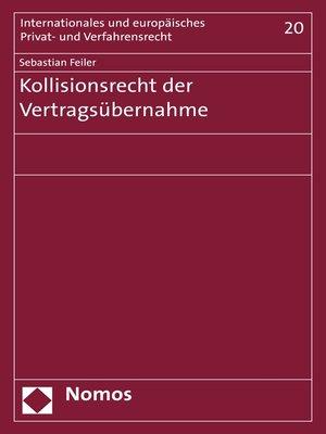 cover image of Kollisionsrecht der Vertragsübernahme