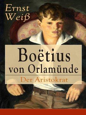 cover image of Boëtius von Orlamünde