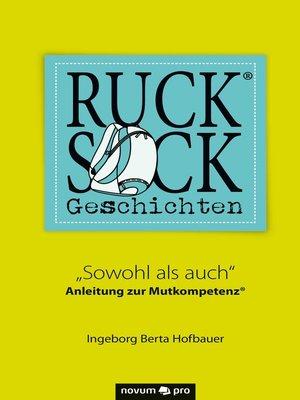 cover image of Rucksackgeschichten®