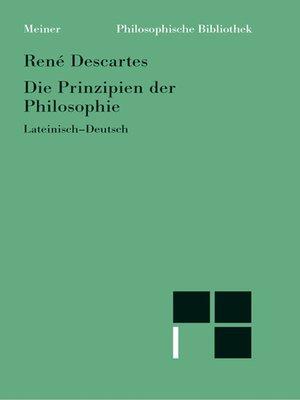 cover image of Die Prinzipien der Philosophie