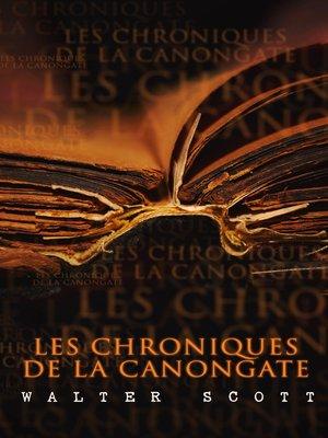 cover image of Les Chroniques de la Canongate
