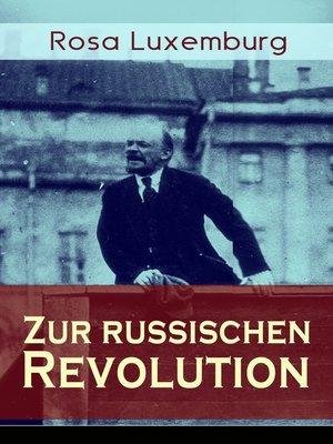 cover image of Zur russischen Revolution