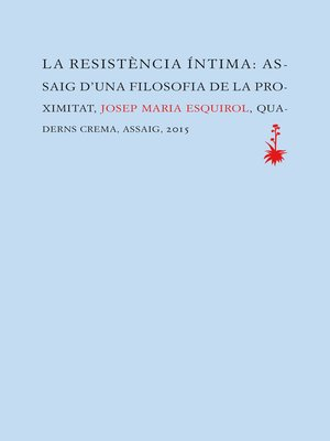 cover image of La resistència íntima