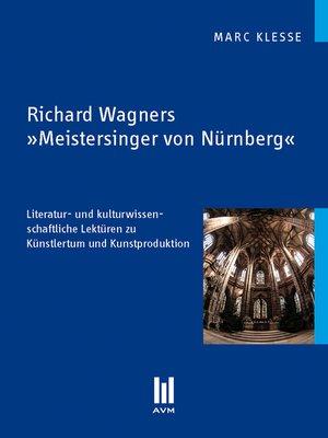 cover image of Richard Wagners 'Meistersinger von Nürnberg'