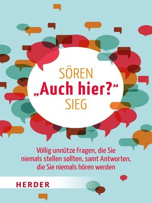 """cover image of """"Auch hier?"""""""