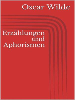 cover image of Erzählungen und Aphorismen