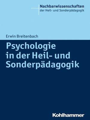 cover image of Psychologie in der Heil- und Sonderpädagogik