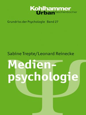 cover image of Medienpsychologie