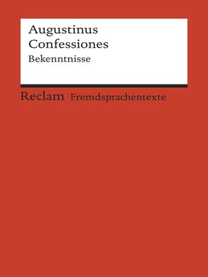 cover image of Confessiones. Bekenntnisse