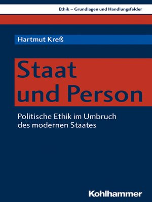 cover image of Staat und Person