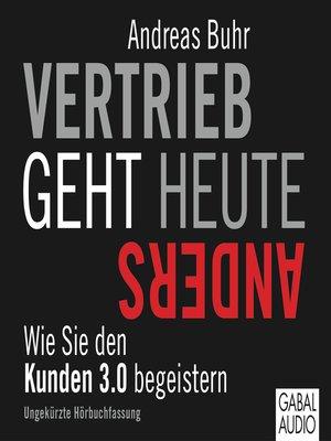 cover image of Vertrieb geht heute anders