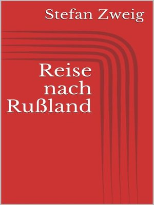 cover image of Reise nach Rußland