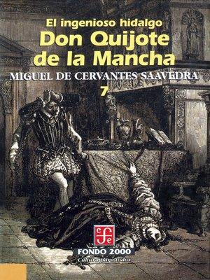 cover image of El ingenioso hidalgo don Quijote de la Mancha, 7