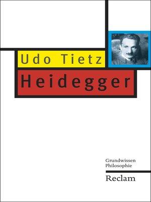 cover image of Heidegger
