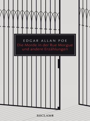cover image of Die Morde in der Rue Morgue und andere Erzählungen