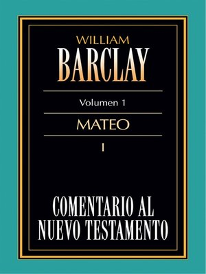 cover image of Comentario al Nuevo Testamento Volume 1