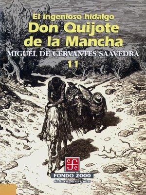 cover image of El ingenioso hidalgo don Quijote de la Mancha, 11