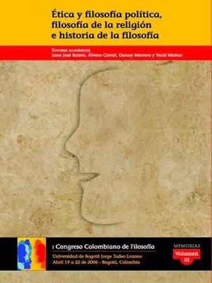 cover image of Ética y filosofía política, filosofía de la religión e historia de la filosofía