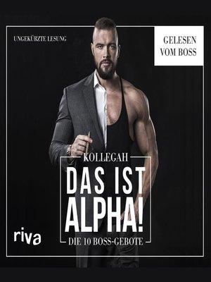 cover image of DAS IST ALPHA!