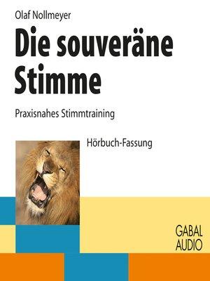 cover image of Die souveräne Stimme