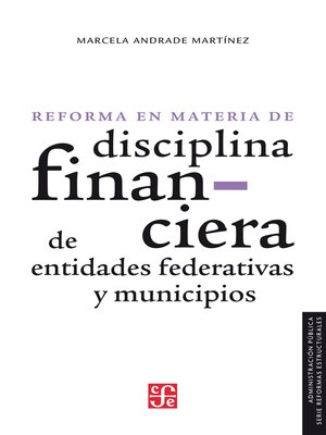 cover image of La reforma en materia de disciplina financiera de entidades federativas y municipios