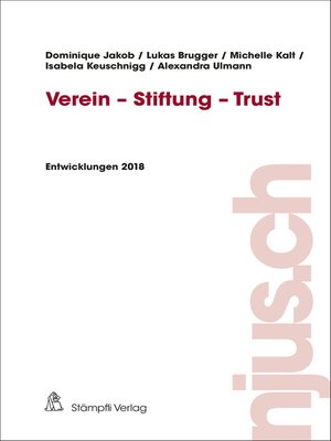 cover image of Verein--Stiftung--Trust