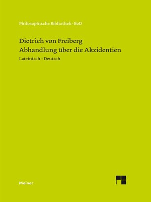 cover image of Abhandlung über die Akzidenzien