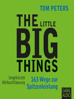 cover image of The Little Big Things