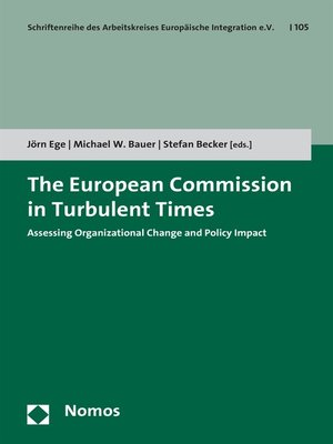 cover image of The European Commission in Turbulent Times