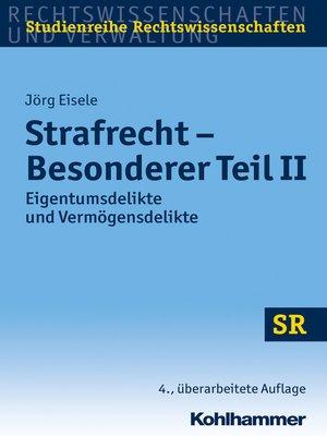 cover image of Strafrecht--Besonderer Teil II