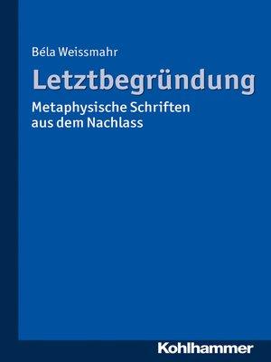 cover image of Letztbegründung