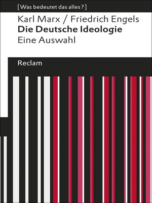 cover image of Die Deutsche Ideologie