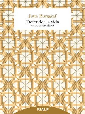 cover image of Defender la vida