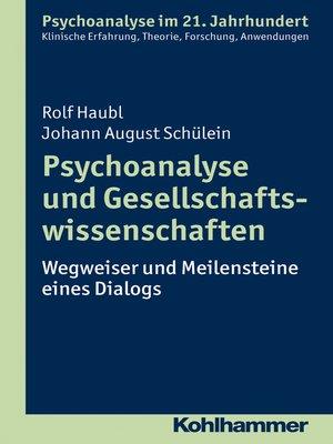 cover image of Psychoanalyse und Gesellschaftswissenschaften