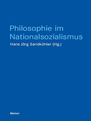 cover image of Philosophie im Nationalsozialismus