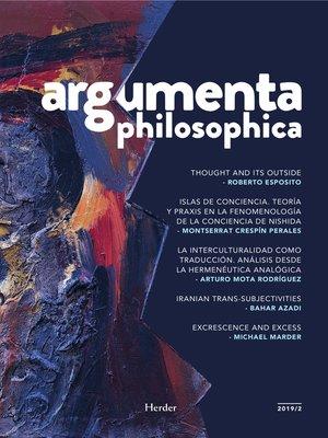 cover image of Argumenta philosophica 2019/2