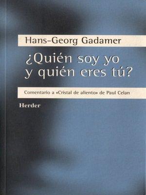 cover image of ¿Quién soy yo y quién eres tú?